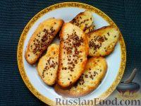 Фото к рецепту: Гренки с семенами льна