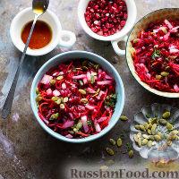 Фото к рецепту: Салат со свеклой, морковью и гранатом