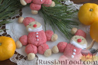 """Фото к рецепту: Новогоднее печенье """"Санта-Клаус"""""""