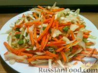 Фото к рецепту: Салат из капусты и моркови с чесноком
