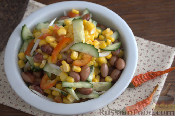 мексиканский салат рецепт куриная грудка кукуруза перец