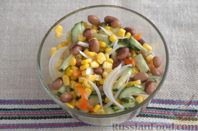 Салат с кукурузой овощной
