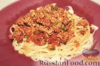 Фото к рецепту: Спагетти с соусом болоньезе