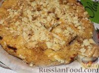 Фото приготовления рецепта: Деревенский творожный пирог из песочной крошки - шаг №12