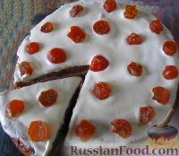 """Фото к рецепту: Торт """"Медовик"""", для которого не нужно раскатывать коржи"""