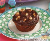 Фото к рецепту: Маффины с шоколадом, орехами и карамелью