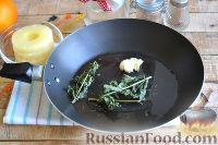 Фото приготовления рецепта: Канапе с ананасами, курицей и апельсинами - шаг №3