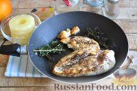 Фото приготовления рецепта: Канапе с ананасами, курицей и апельсинами - шаг №4