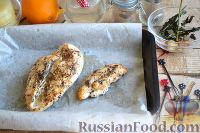 Фото приготовления рецепта: Канапе с ананасами, курицей и апельсинами - шаг №5