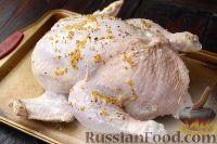 Фото приготовления рецепта: Курица, фаршированная рисом - шаг №8