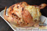 Фото приготовления рецепта: Курица, фаршированная рисом - шаг №12