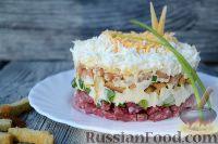 Фото к рецепту: Салат с кириешками