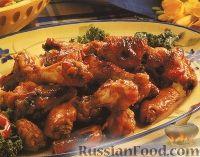 Фото к рецепту: Куриные крылышки под медовым соусом