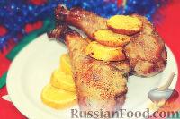 Фото к рецепту: Запеченная индейка с апельсинами