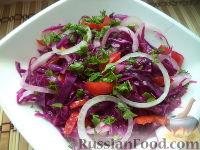 Фото к рецепту: Салат из краснокачанной капусты