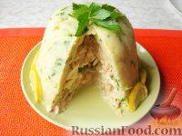 Фото к рецепту: Закусочный торт из картофельного пюре