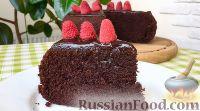 Фото к рецепту: Простой шоколадный торт (в мультиварке)