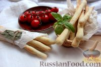 Фото к рецепту: Итальянские хлебные палочки (гриссини) с орегано