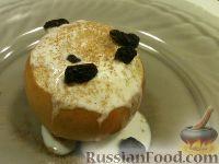 Фото к рецепту: Быстро запеченное яблоко