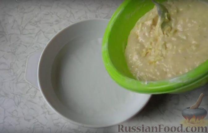 Фото приготовления рецепта: Очень простой пирог с айвой - шаг №5