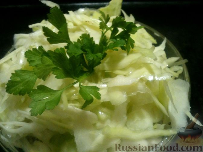рецепт салата из свежей капусты с уксусом рецепт