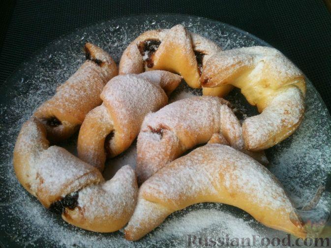 Рогалики с вареньем в духовке рецепт