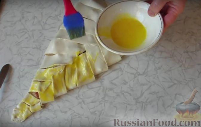 слоеное тесто с ягодами замороженными рецепт с фото
