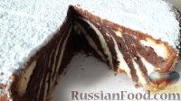 "Фото к рецепту: Торт ""Зебра"" с творогом"