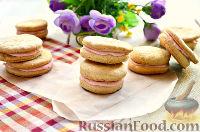 Фото к рецепту: Печенье-сэндвичи с творожной начинкой