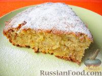 Фото к рецепту: Очень простой пирог с айвой