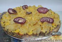 Фото к рецепту: Киш с цветной капустой (без теста)