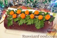 "Фото к рецепту: Рулет (салат) ""Шуба"" со скумбрией"