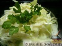 Фото к рецепту: Салат из свежей капусты с чесноком