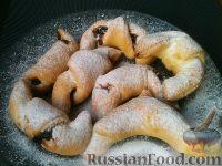 Фото к рецепту: Рогалики с вареньем