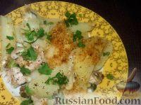 Фото к рецепту: Картофель, запеченный с рыбой
