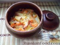 Фото к рецепту: Картофельная запеканка с тыквой и сметаной