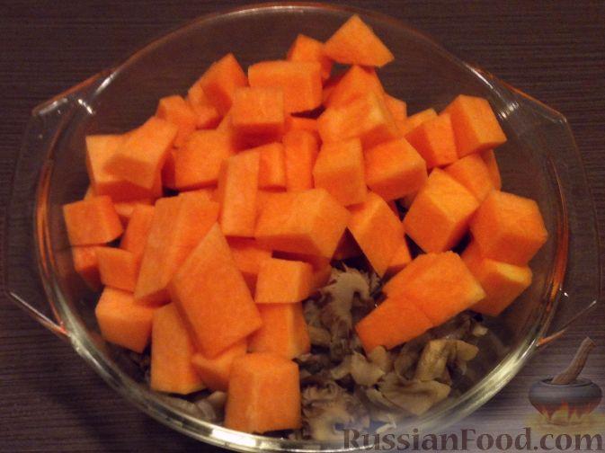 Фото приготовления рецепта: Суп-пюре из тыквы и грибов - шаг №6