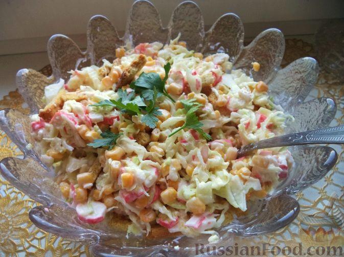 Крабовый салат с пекинской капустой - пошаговый рецепт с ...