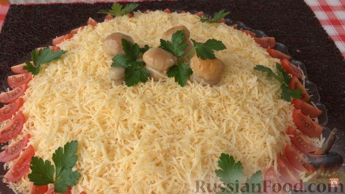 Салат красавица с курицей рецепт