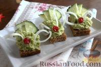 Фото к рецепту: Праздничная закуска из авокадо и огурца