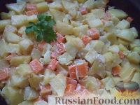 Фото к рецепту: Запеканка картофельная с тыквой