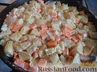 Фото приготовления рецепта: Запеканка картофельная с тыквой - шаг №8