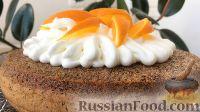 Фото к рецепту: Шоколадный пирог с белковым кремом и апельсинами