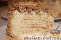 Фото к рецепту: Торт на сковороде, с заварным кремом