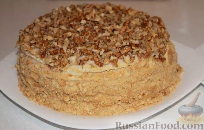 Торт на сковороде со сгущенкой  рецепт с фото пошагово