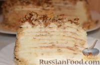 Фото приготовления рецепта: Торт на сковороде, с заварным кремом - шаг №11