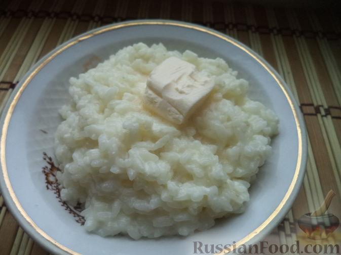 Сварить молочную рисовую кашу на одну порцию