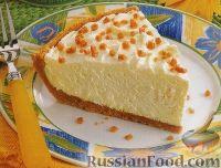 Фото к рецепту: Сливочный десерт (а-ля чизкейк) с белым шоколадом