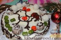 "Фото к рецепту: Новогодний торт ""Рафаэлло"""