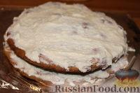 """Фото приготовления рецепта: Новогодний торт """"Рафаэлло"""" - шаг №14"""